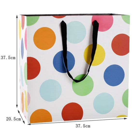 Colorful Gift Cardboard Packaging Bags Printing