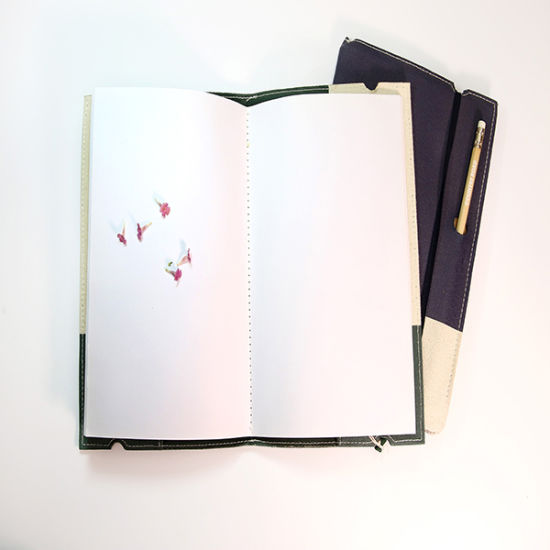 New Design Cloth Soft Cover Notebook with a Pencil