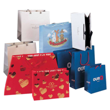 Shaped Fancy Paper Shopping Bags Printing