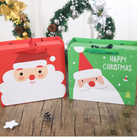 Customized Christmas Bag Gift Paper Bag with Handles